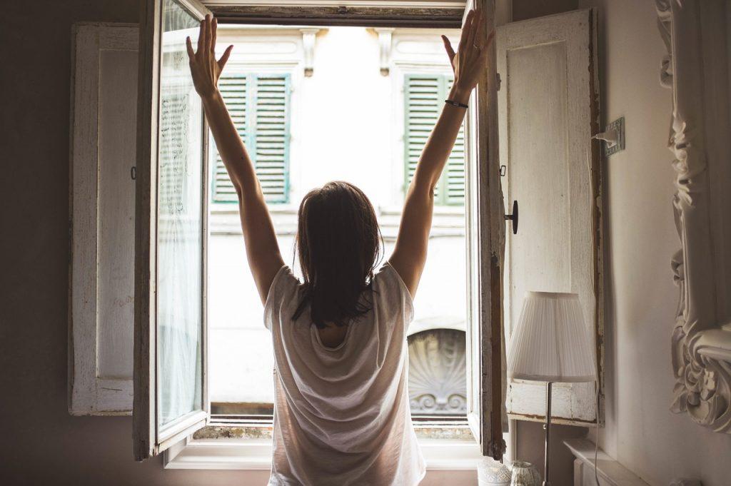window-woman